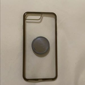 iPhone 6 7 8 PLUS cover case with Popsocket holder